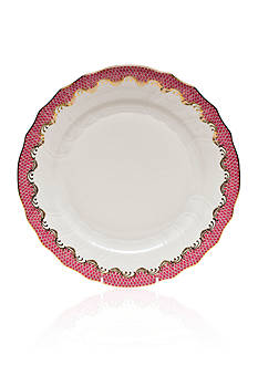 Herend Fish Scale Pink Dinner Plate