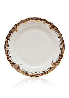 Herend Fishscale Brown Dinner Plate