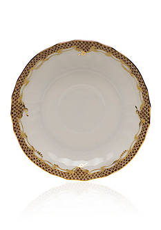 Herend Fishscale Brown Canton Saucer