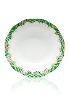 Herend Fish Scale Jade Rim Soup Plate - 8-in. D.