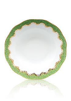 Herend Fish Scale Evergreen Rim Soup Plate