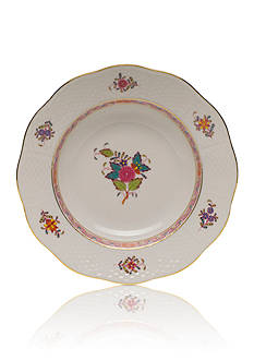 Herend Chinese Bouquet Multicolor Rim Soup Plate