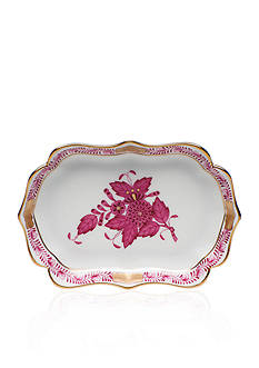 Herend 4.25-in. L X 3-in. W Mini Scalloped Tray