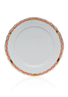 Herend Chinese Bouquet Rust Garland Service Plate