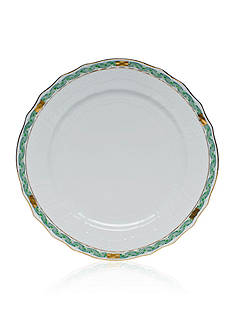 Herend Chinese Bouquet Green Garland Service Plate