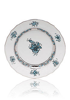 Herend Chinese Bouquet Turquoise & Platinum Bread & Butter Plate