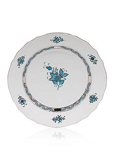 Herend Chinese Bouquet Dinnerware - Turquoise & Platinum