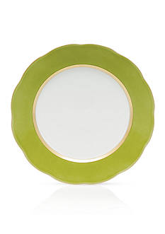 Herend Silk Ribbon Olive Service Plate, 11-in.