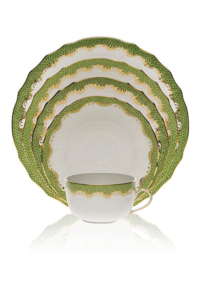 Herend Fishscale Green Place Setting