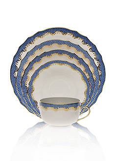 Herend Fishscale Blue Place Setting