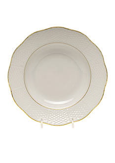 Herend Golden Rimmed Soup Bowl