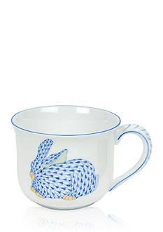 Herend Bunny Mug - Blue