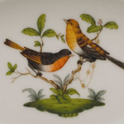 Gold China: Multi Herend Tureen with Bird