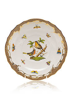 Herend Rothschild Bird Brown Border Salad Plate - Motif #8
