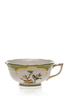 Herend Rothschild Bird Green Border Tea Cup - Motif #5