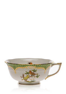 Herend Rothschild Bird Green Border Tea Cup - Motif #6
