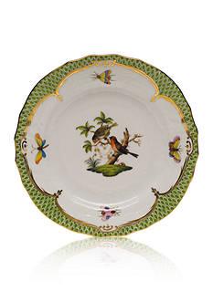 Herend Rothschild Bird Green Border Bread & Butter Plate- Motif #10