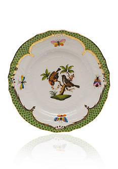 Herend Rothschild Bird Green Border Bread & Butter Plate- Motif #12