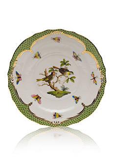 Herend Rothschild Bird Green Border Salad Plate - Motif #11
