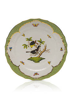 Herend Rothschild Bird Green Border Service Plate - Motif #1