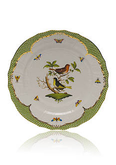 Herend Rothschild Bird Green Border Service Plate - Motif #3