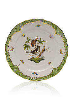 Herend Rothschild Bird Green Border Service Plate - Motif #4
