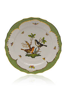 Herend Rothschild Bird Green Border Service Plate - Motif #5