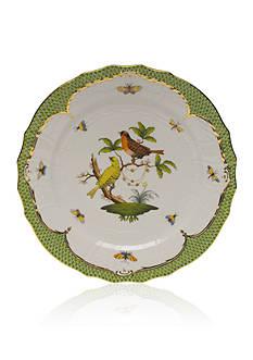 Herend Rothschild Bird Green Border Service Plate - Motif #6