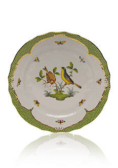 Herend Rothschild Bird Green Border Service Plate - Motif #7