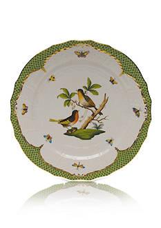Herend Rothschild Bird Green Border Service Plate - Motif #8