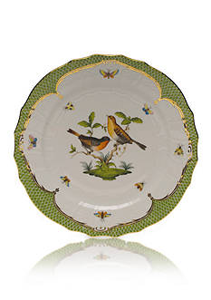 Herend Rothschild Bird Green Border Service Plate - Motif #9