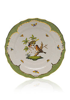 Herend Rothschild Bird Green Border Service Plate - Motif #10