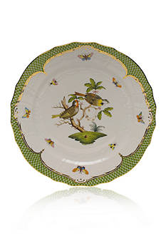Herend Rothschild Bird Green Border Service Plate - Motif #11