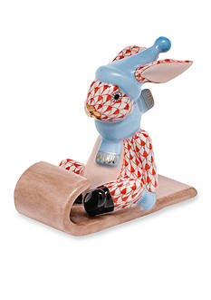 Herend Sledding Bunny - Rust