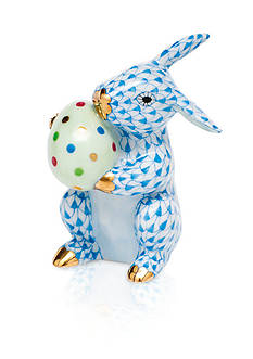 Herend Easter Bunny - Blue