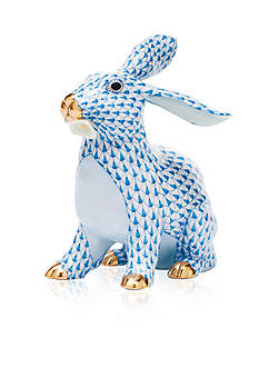 Herend Bunny with Daisy - Blue