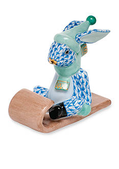Herend Sledding Bunny - Blue