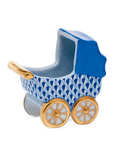 Herend Baby Carriage - Blue