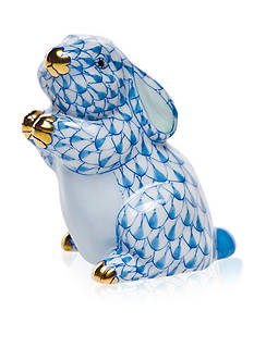Herend Pudgy Bunny - Blue