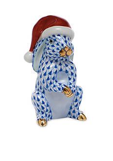 Herend Santa Bunny - Sapphire