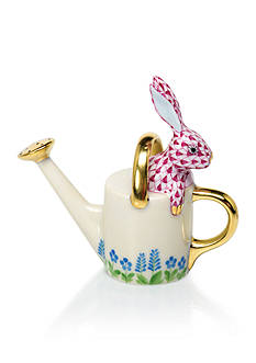 Herend Watering Can Bunny Statuette