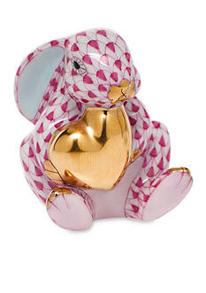 Herend Bunny with Heart - Raspberry