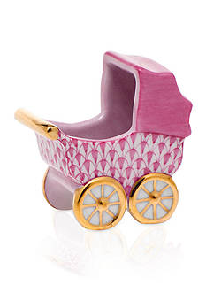 Herend Baby Carriage - Raspberry