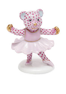 Herend Ballerina Bear - Raspberry