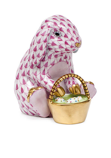 Herend Eggstravagant Rabbit - Raspberry