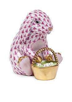 Herend Eggstravagant Rabbit - Raspberry