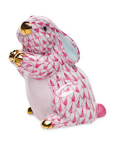 Herend Pudgy Bunny - Raspberry