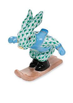 Herend Ski Bunny - Green