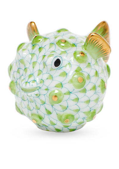 Herend Puffer Fish - Key Lime