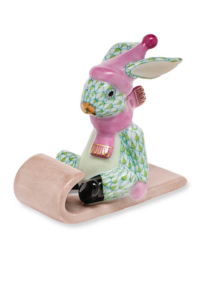 Herend Sledding Bunny - Key Lime